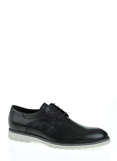 D by Divarese  Deri Oxford Ayakkabı Siyah